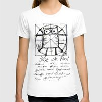 da vinci T-shirts featuring Kot da Vinci (black) by Katja Main