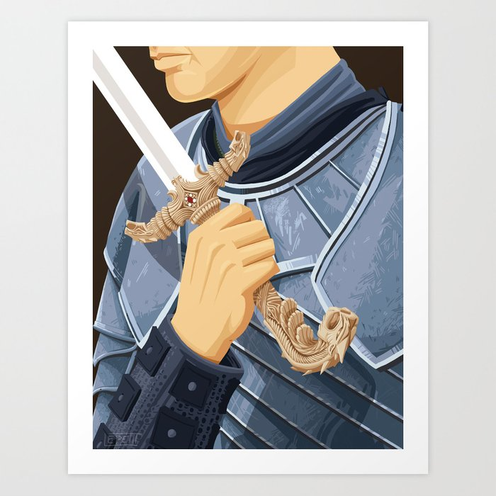 The Honorable Knight - WORDLESS Art Print