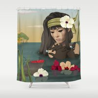 sad Shower Curtains featuring Sad by ANVIK