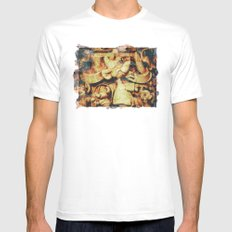Cinderella's Jaq image transfer MEDIUM Mens Fitted Tee White