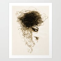 transparent Art Prints featuring Transparent by Sofia Karlström