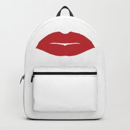 Isolated Lip Kiss Backpack