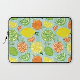Zesty Citrus Pattern Laptop Sleeve