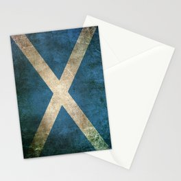Old and Worn Distressed Vintage Flag of Scotland Stationery Cards