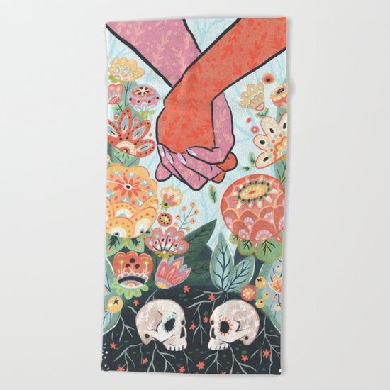 Till Death Do Us Part Beach Towel