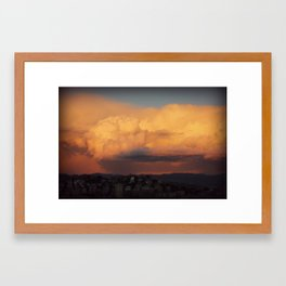 Threat from the sky Framed Art Print
