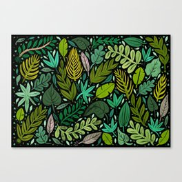 Green Scatter Canvas Print