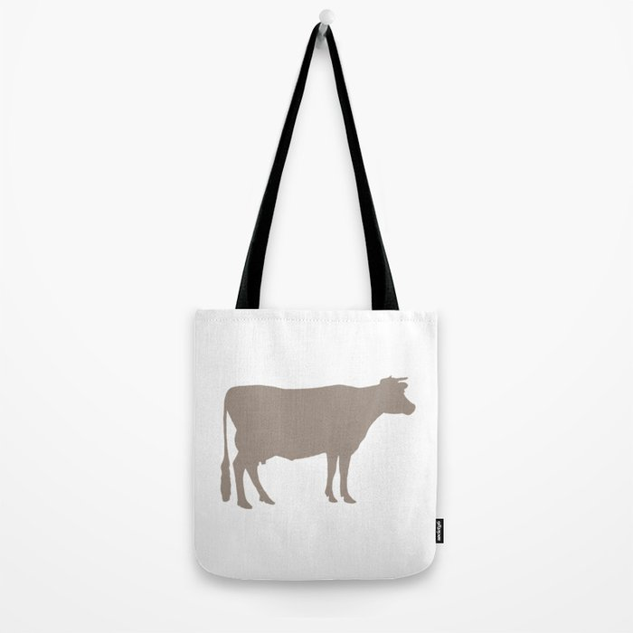 Cow: Beige Tote Bag