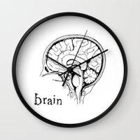 brain Wall Clocks featuring Brain by Etiquette