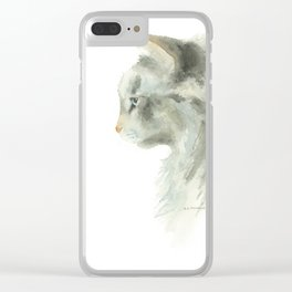lynx point siamese cat Clear iPhone Case