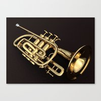 trumpet Canvas Prints featuring trumpet by Ancello