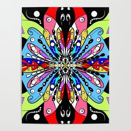 Mosaic. Bright, colourful, abstract homedecor Poster