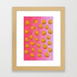 Gold leaves 3 Framed Art Print