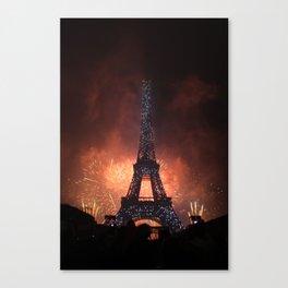 As France Celebrates Their Nation's Birthday Canvas Print