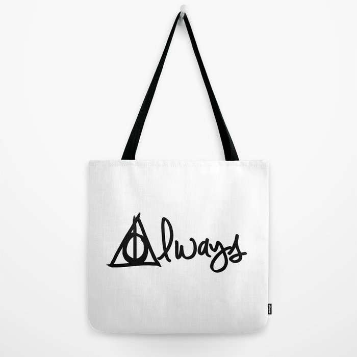 Always Deathly Hallows Harry Potter Tote Bag By Beckiboos Society6