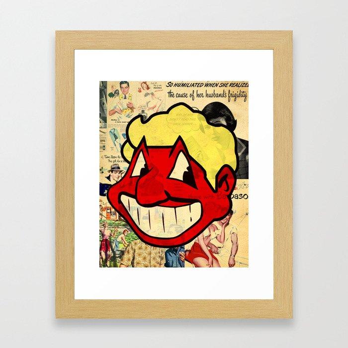 RED MAN Framed Art Print