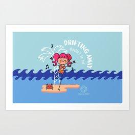 Drifting Away shouldn't be bad Art Print