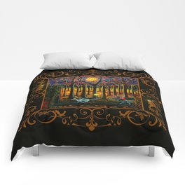 Halloween art The Headless Horseman of Hudson Valley Comforters