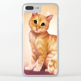 Bast - adorable fluffy red tabby cat Clear iPhone Case