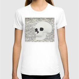 Skull and flowers T-shirt