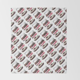 Nuts for Nutella Throw Blanket