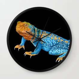 Collared Lizard Wall Clock