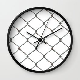Metal Chain Fence PNG Wall Clock