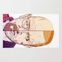breaking bad Area & Throw Rugs featuring Breaking Bad by Connick Illustrations