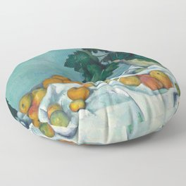 """Paul Cezanne """"Still Life with Apples and a Pot of Primroses"""" Floor Pillow"""