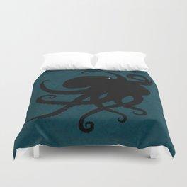 """Octopus Silhouette"" digital illustration by Amber Marine, (Copyright 2015) Duvet Cover"