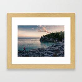 Sunrise at Bruce Peninsula National Park Framed Art Print