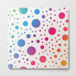 Abstract colorful background with cirlces Metal Print