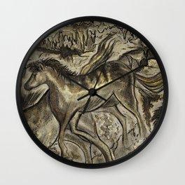 Wild Horse Cavern Wall Clock