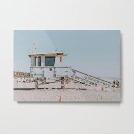 Lifeguard On Duty | Santa Monica, California Metal Print