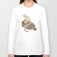xmas Long Sleeve T-shirts featuring cozy chipmunk by Laura Graves