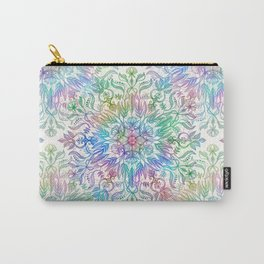 Nature Mandala in Rainbow Hues Carry-All Pouch