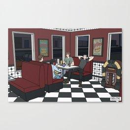 Nino's on a Friday Night Canvas Print