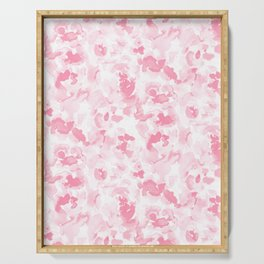Abstract Flora Millennial Pink Serving Tray