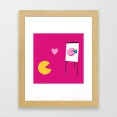 Office Romance - Variant Framed Art Print