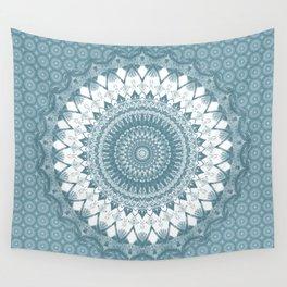 Boho Blue Mandala Wall Tapestry