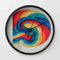 candy Wall Clocks featuring Candy  by ArtSchool