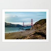 Golden Gate at Baker Beach Art Print