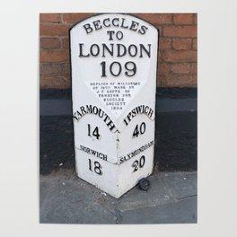 English Milestone Poster