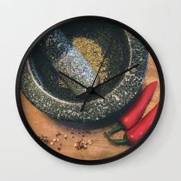 Mortar and Pestle. Wall Clock