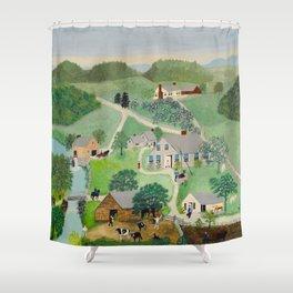 Anna Mary Robertson 'Grandma' Moses The Old Oaken Bucket American Folk Art Shower Curtain