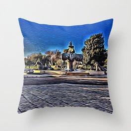 King's Fountain Throw Pillow