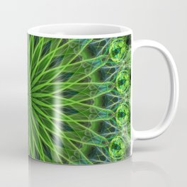 Ornamented green mandala Coffee Mug