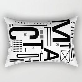 METAL FICTION Rectangular Pillow