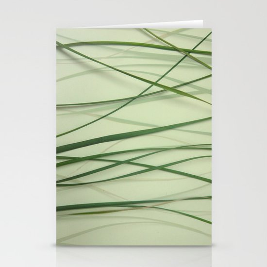 Grass Abstract Stationery Cards