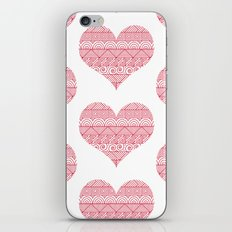 Patterned Hearts Pattern iPhone & iPod Skin